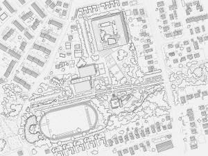 Site Practice - Site plan showing the building in relation to the park
